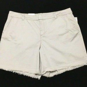 NWT STYLE & COMPANY Beige Frayed Casual Shorts 16W